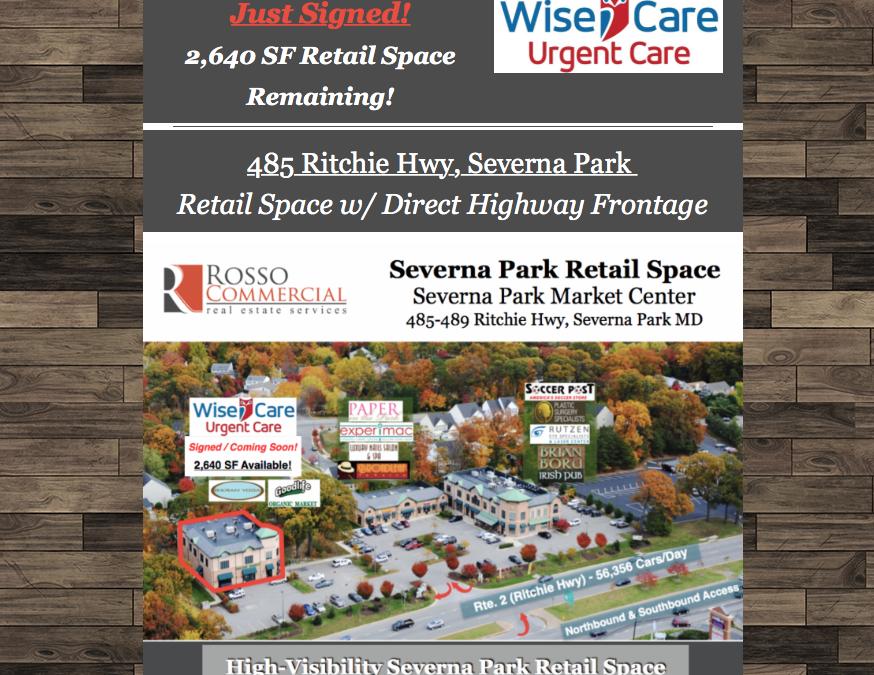 Just Signed! WiseCare Urgent Care – Severna Park Market Center