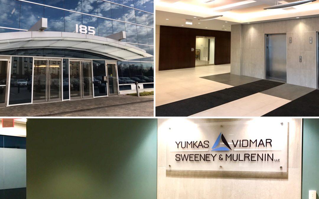 Yumkas Vidmar Sweeney & Mulrenin Law now open in new office at 185 Admiral Cochrane in Annapolis