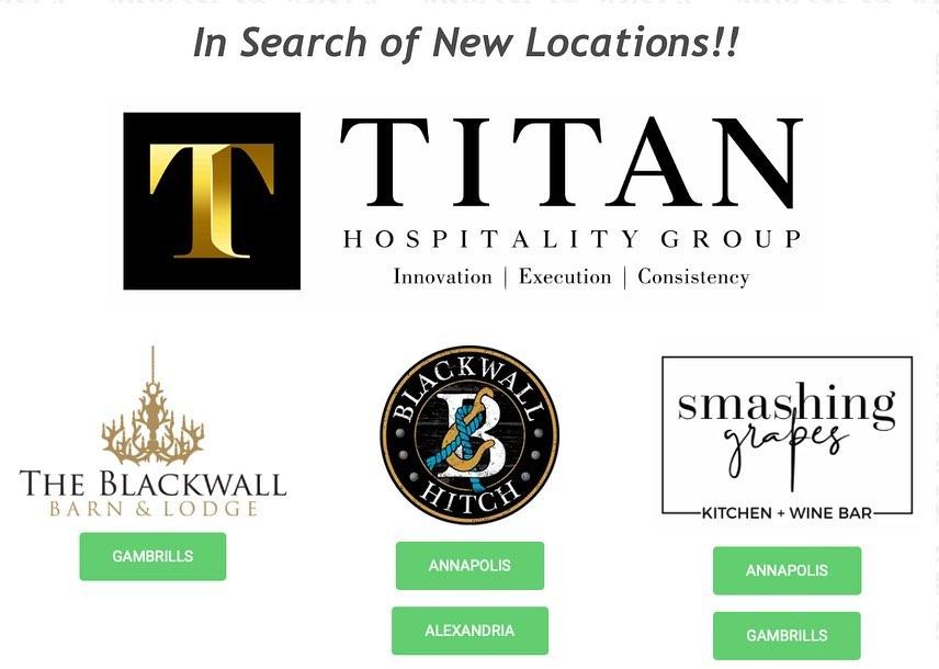 Titan Hospitality Group Seeking New Location Opportunities